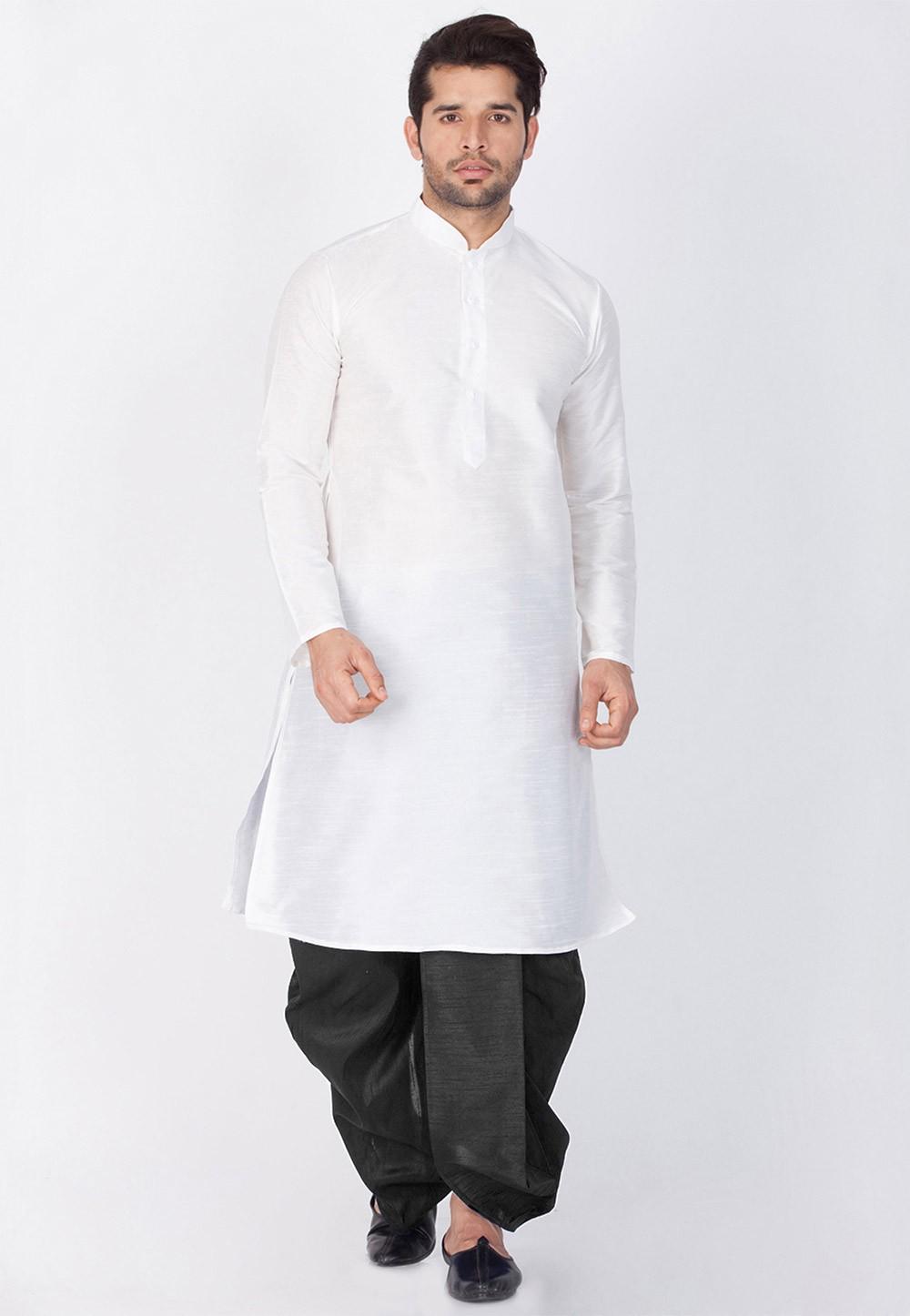 Buy Cotton Silk Readymade Dhoti Kurta online