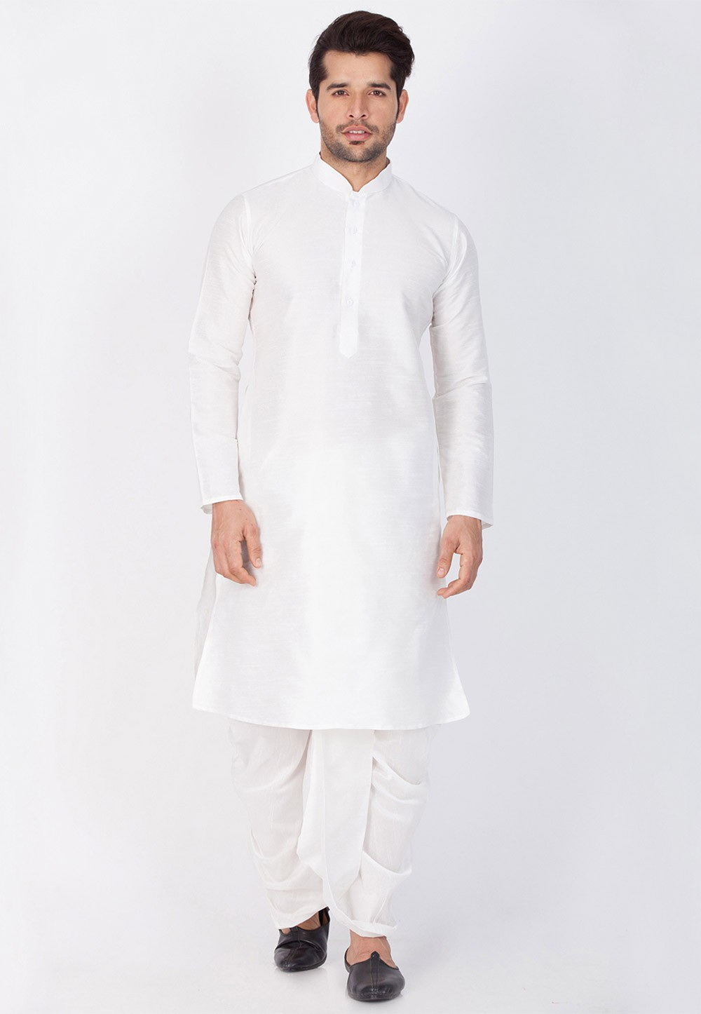 Buy Exquisite White Color Dhoti Kurta Online
