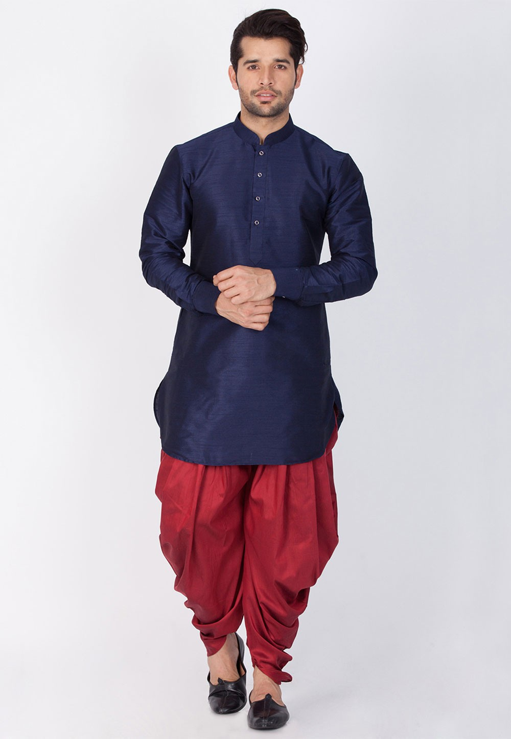 Readymade: Buy Dhoti Kurta Online for Men in Blue Color
