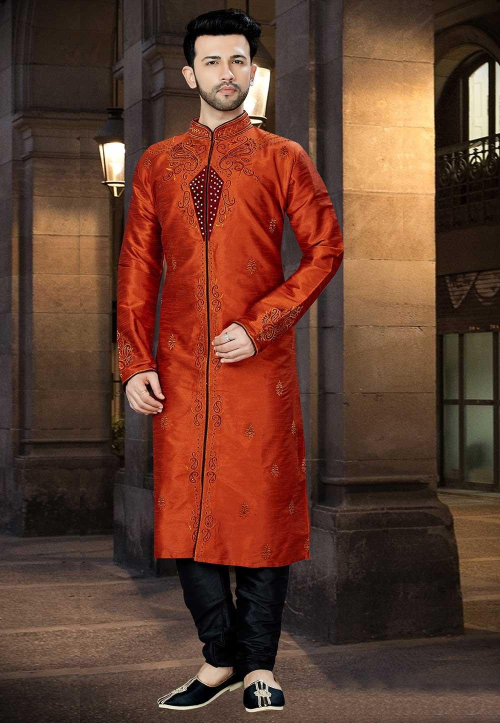 Red Color Readymade Kurta Pajama