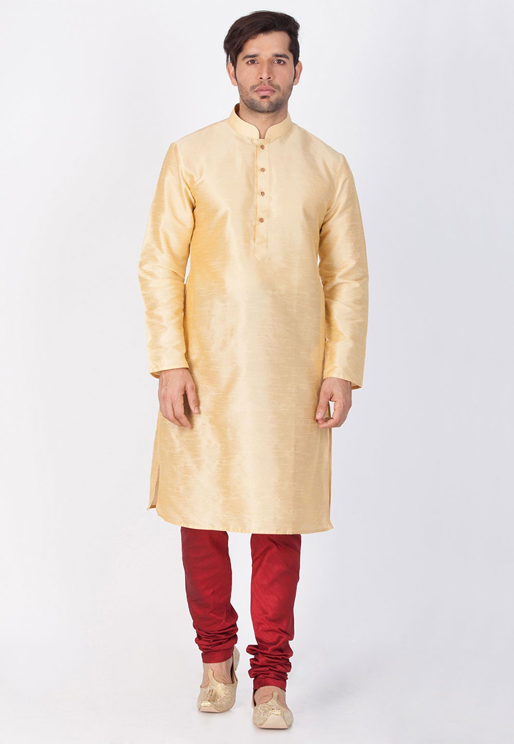 Golden Color Kurta Pyjama.