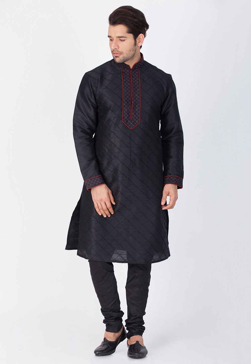 Black Color Party Wear Kurta.