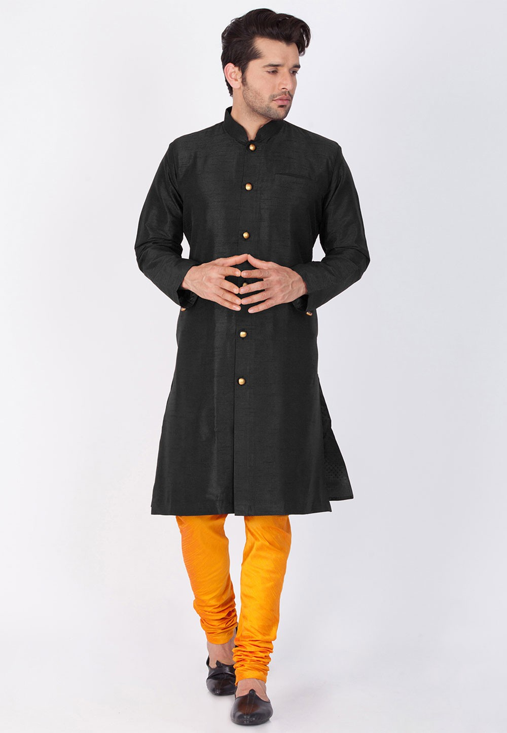Black Color Indian Kurta Pajama.