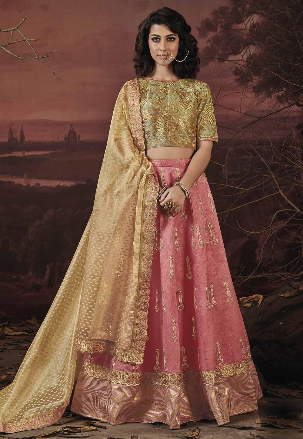 Pink Color Designer Lehenga.