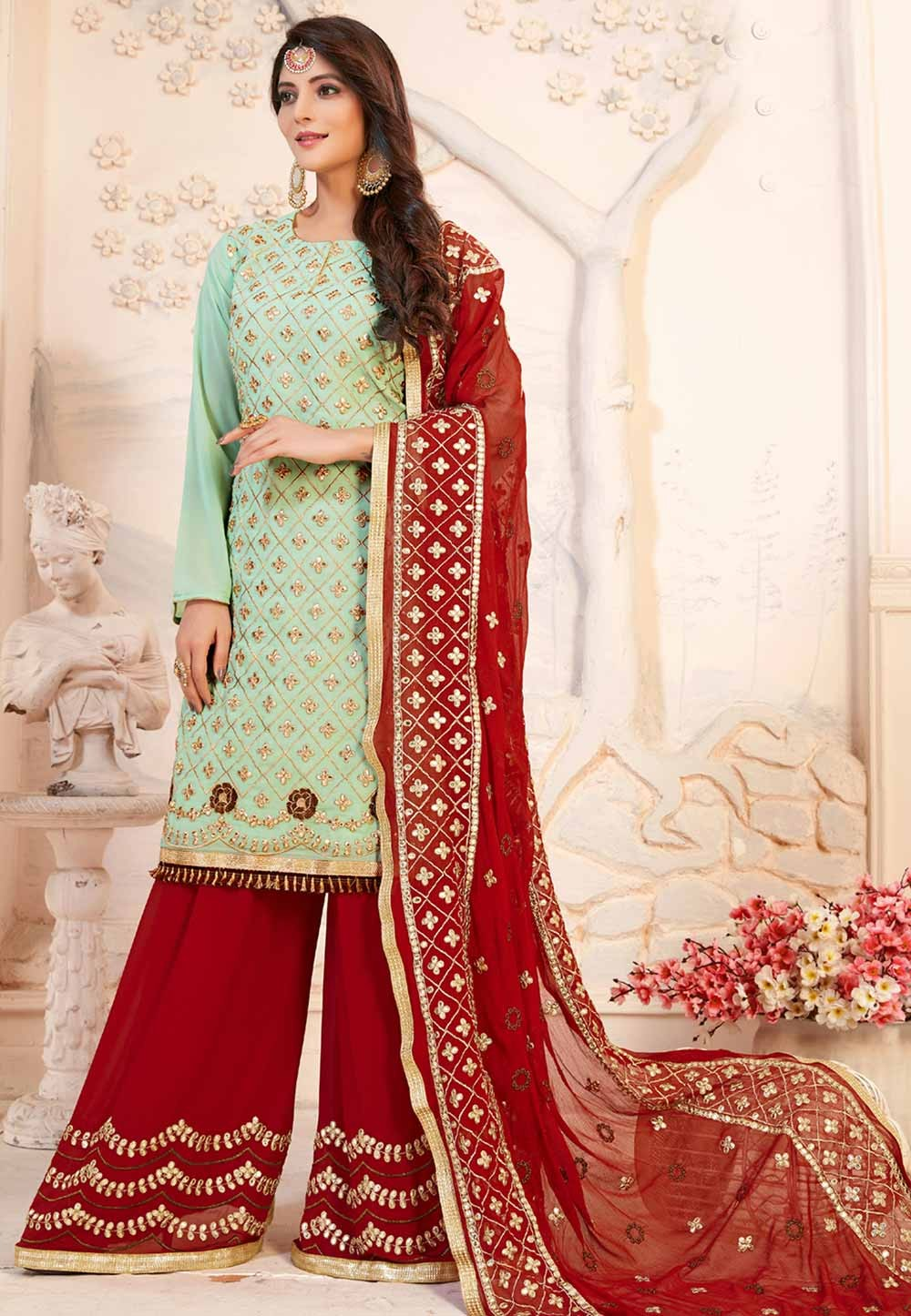 Green Color Designer Salwar Suit.