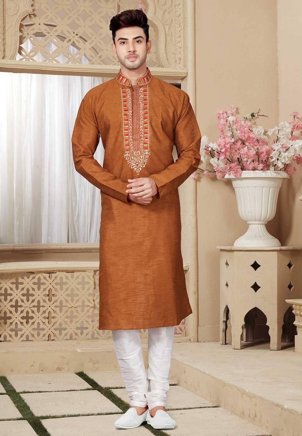 Buy Brown Color Designer Kurta Pajama Online Boys