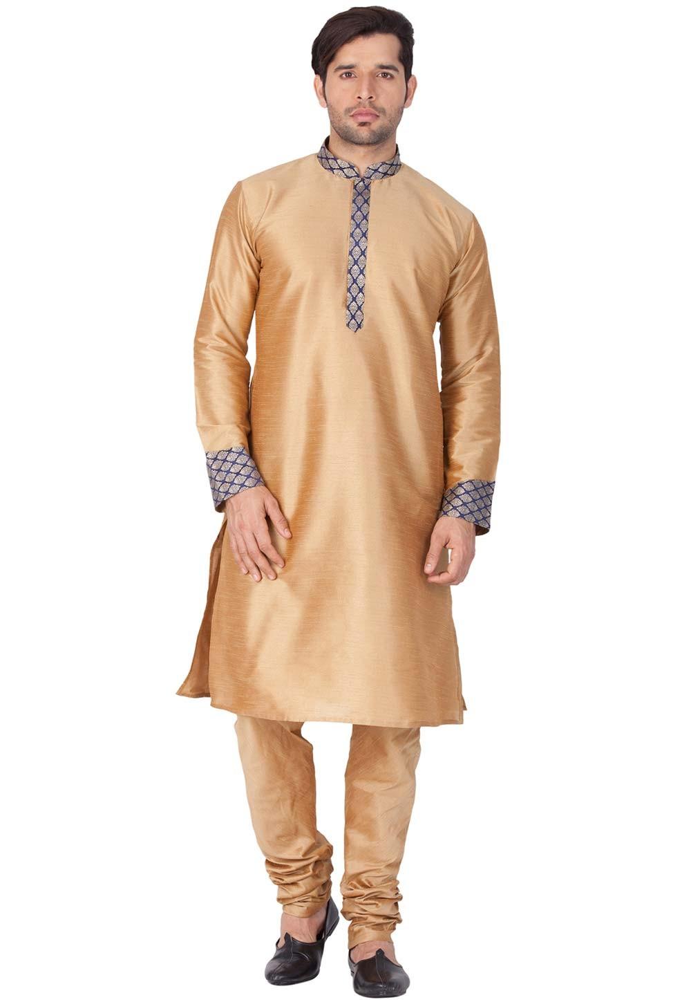 Buy kurta pajama online in Golden Color