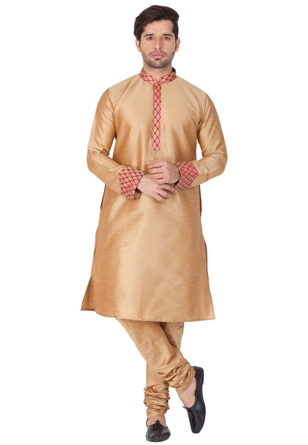 Golden Color Kurta Pajama.