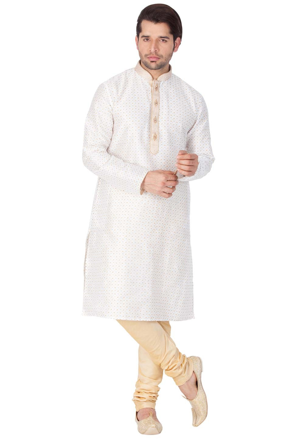 Buy designer kurta pajama in White Color