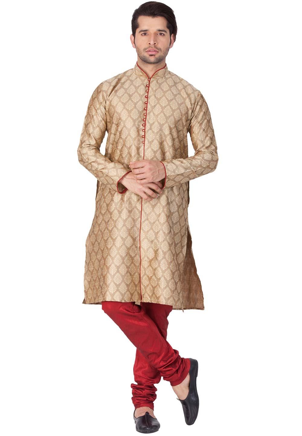 Buy kurta pajama online in Beige Color