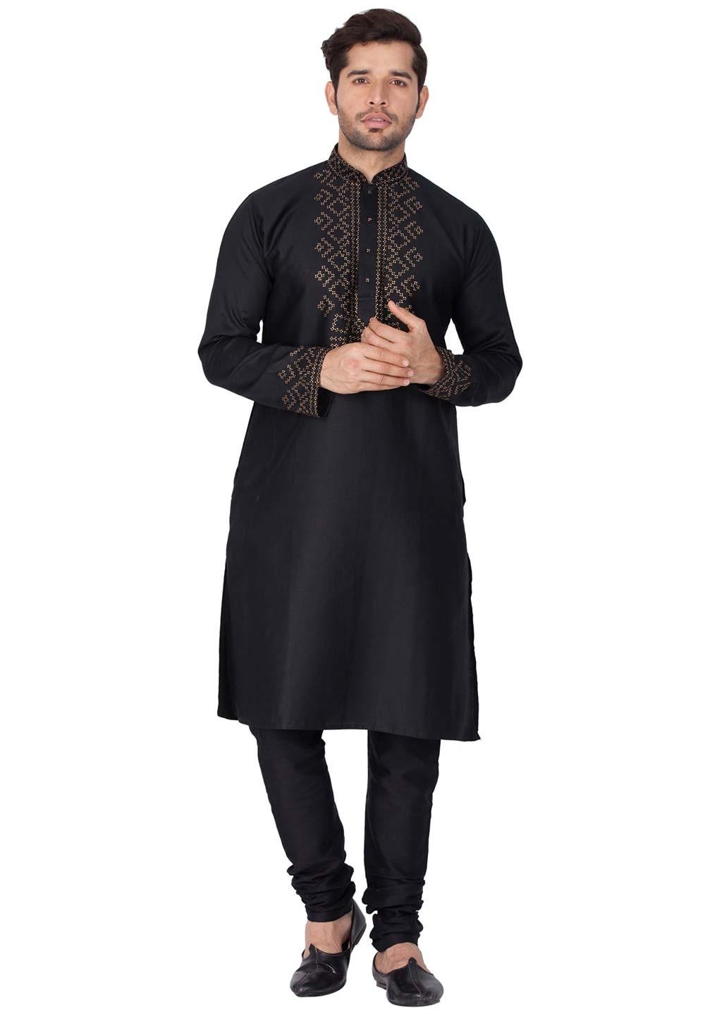 Black Color Kurta Pajama.