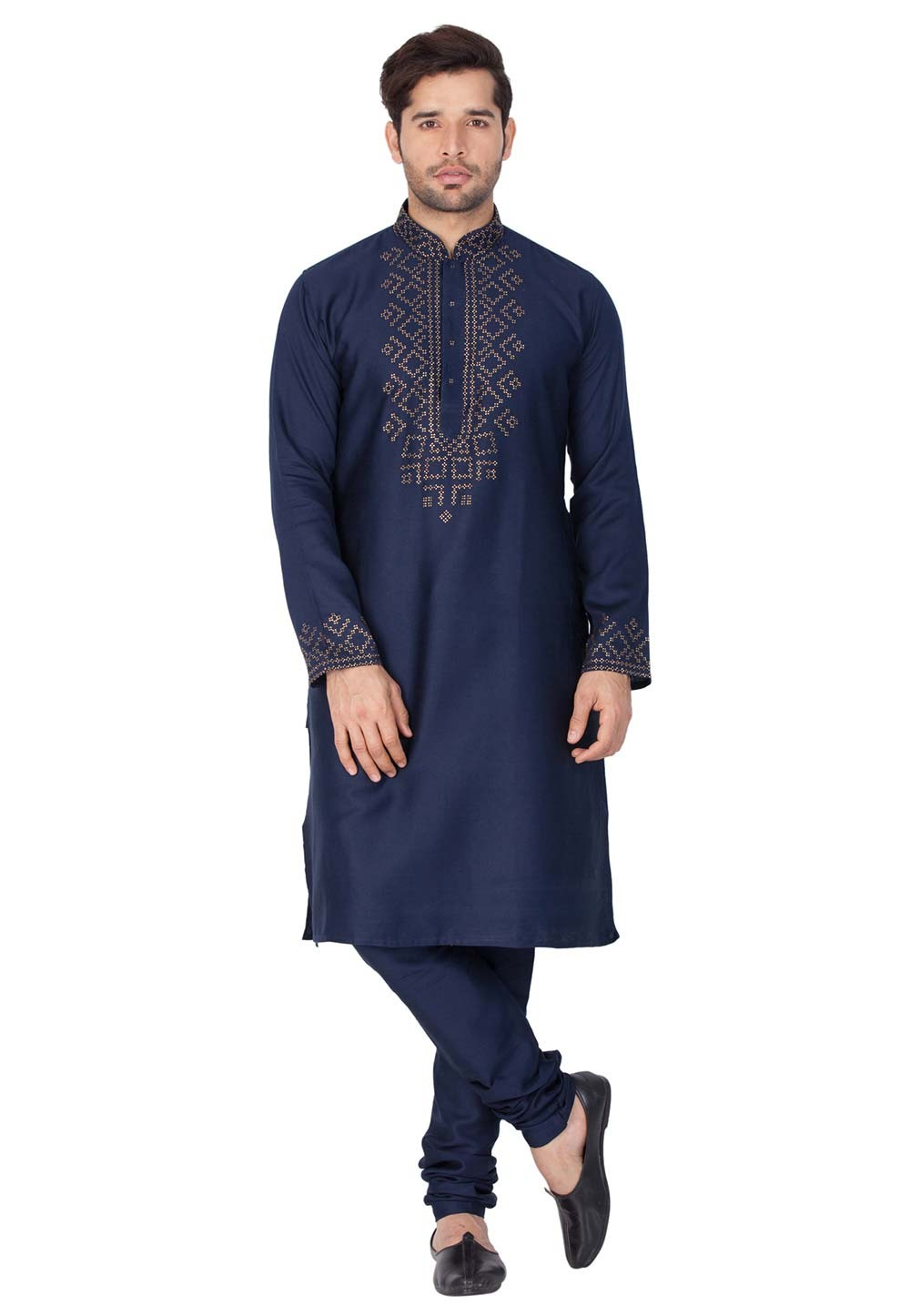 Buy kurta pajama online in Blue Color