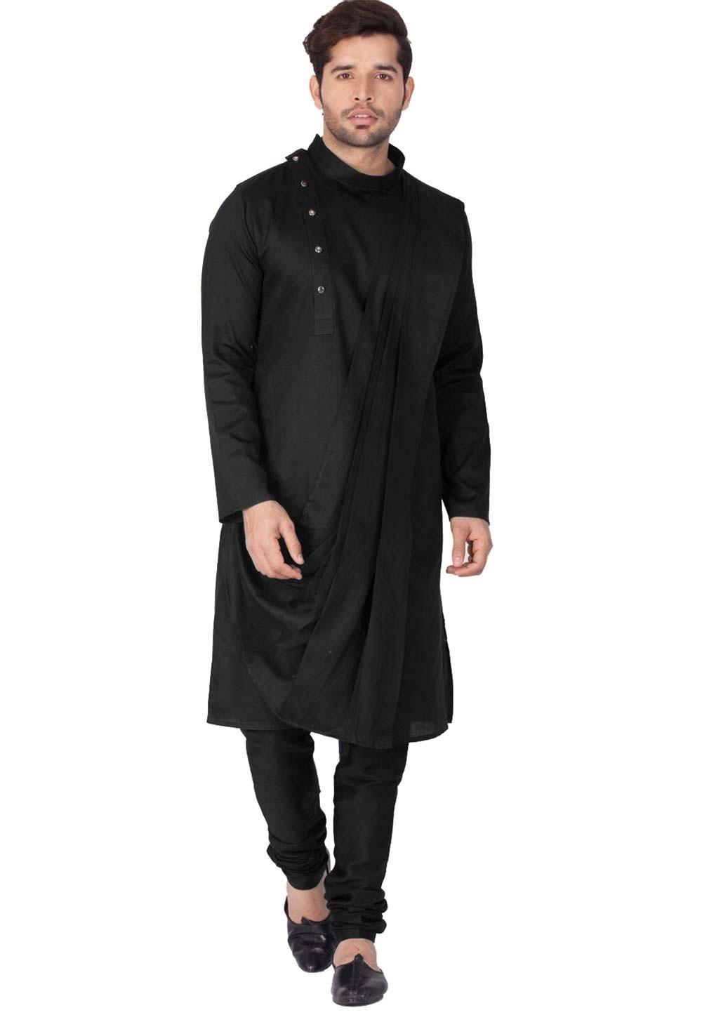 Buy kurta pajama online in Black Color
