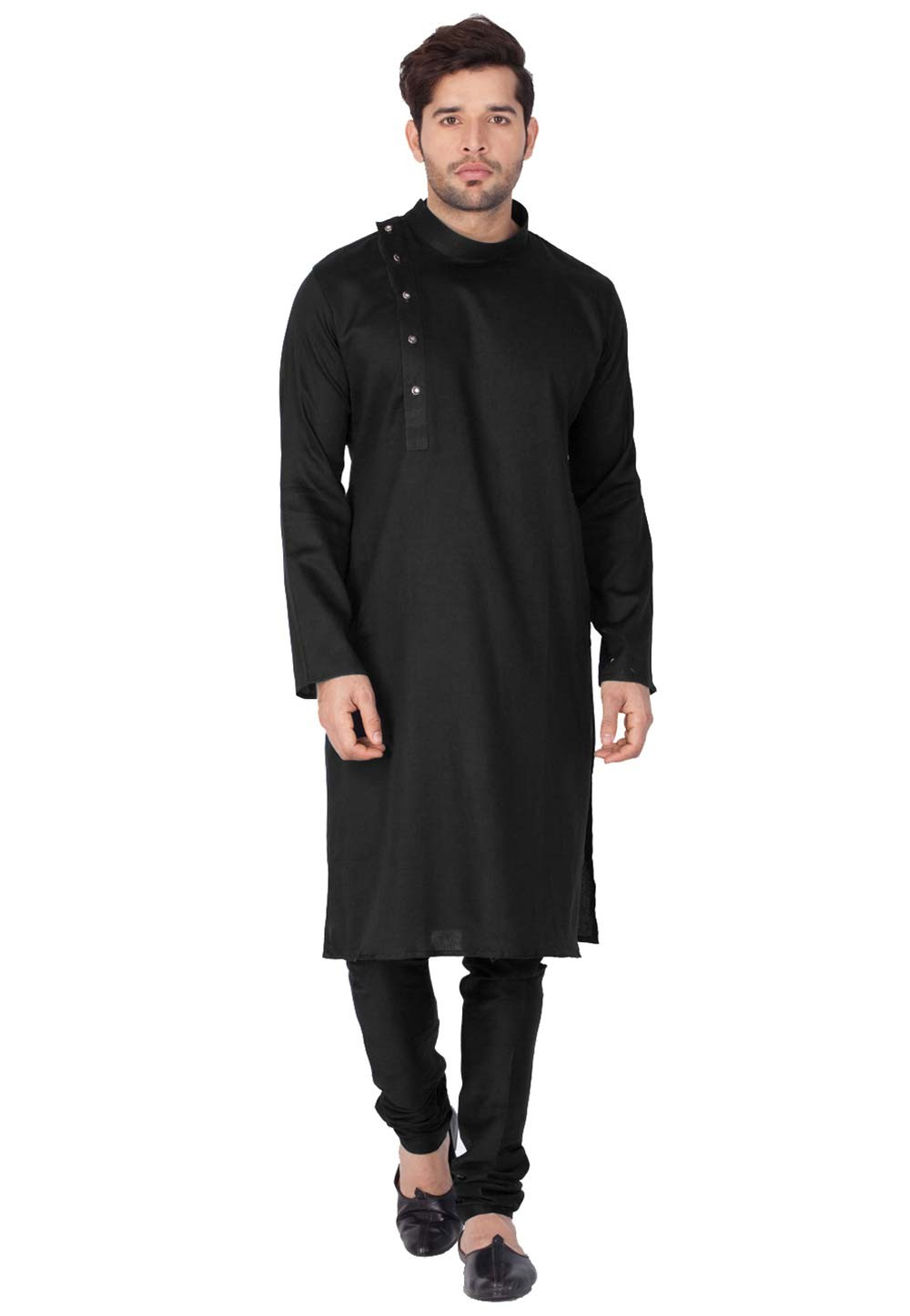 Black Color Party Wear Indian kurta pajama for mens