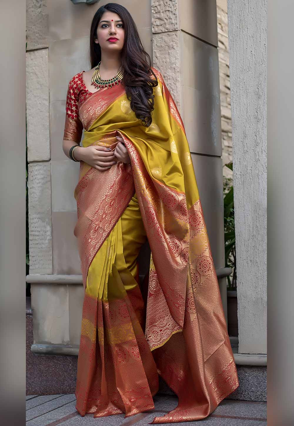 Yellow Color Saree.