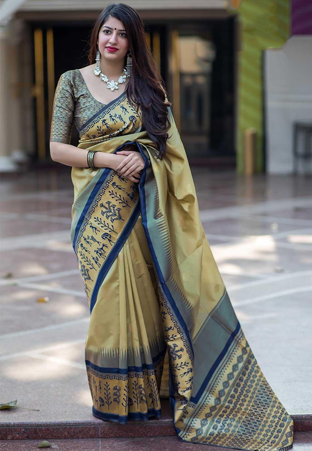 Yellow Colour Saree.