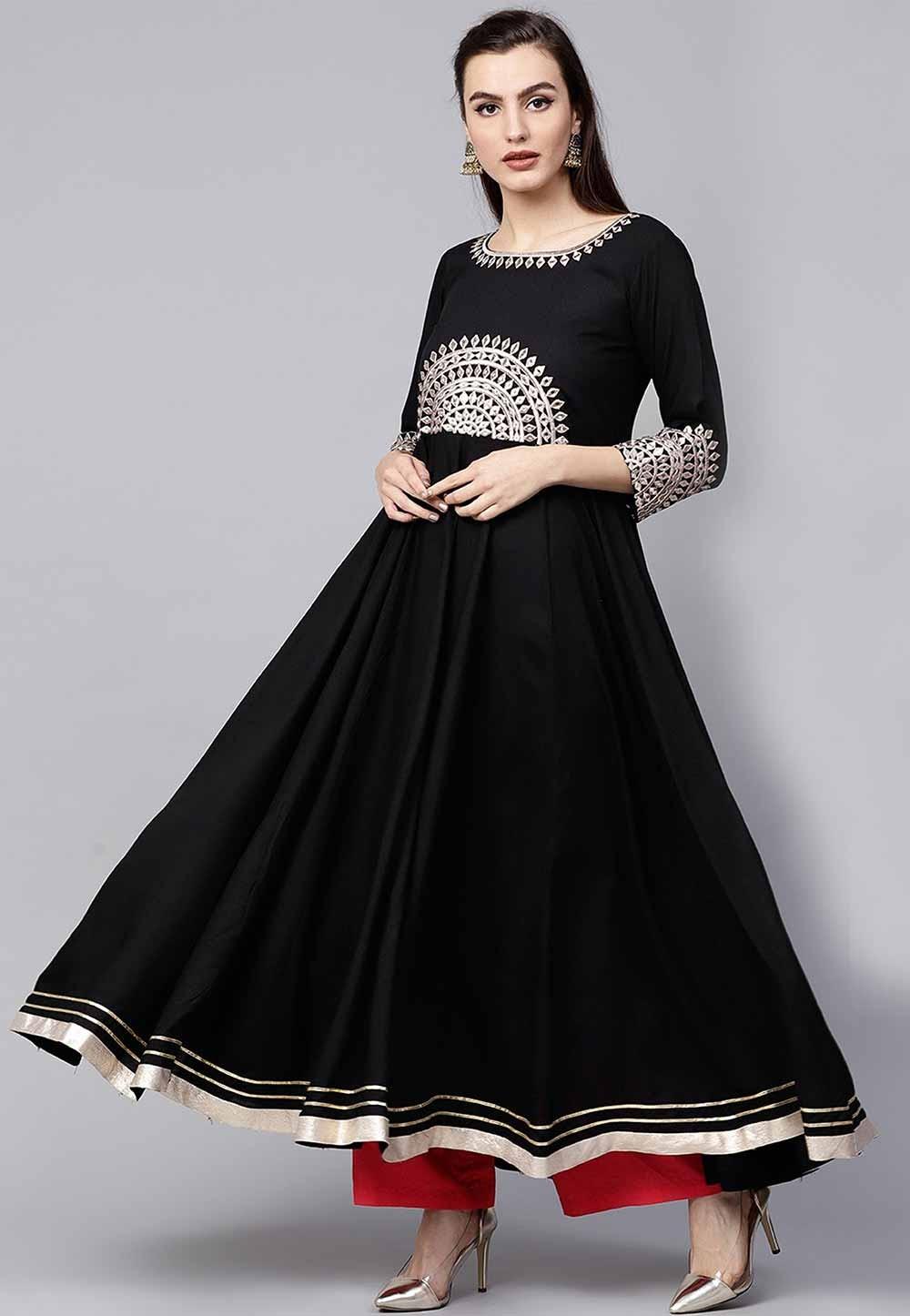 Black Colour Party Wear Kurti.