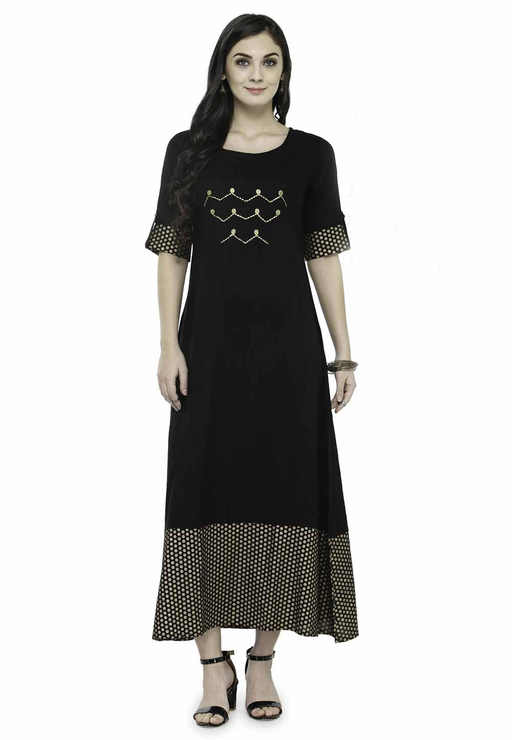 Black Colour Readymade Kurti.
