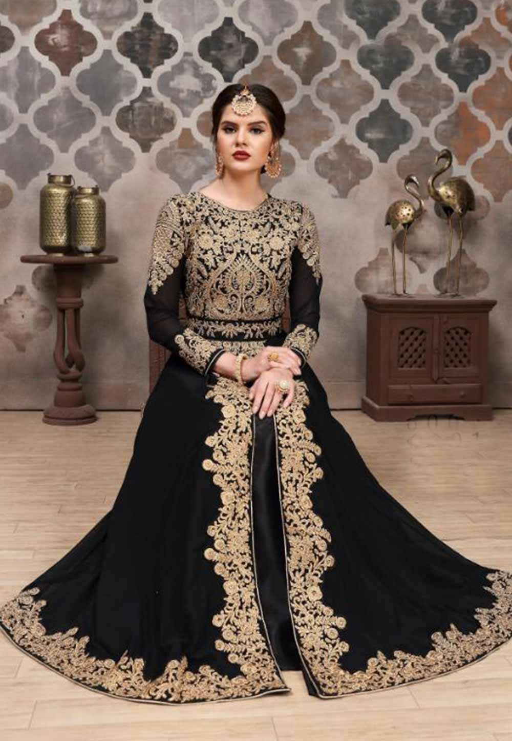 Black Colour Indian Salwar kameez online India