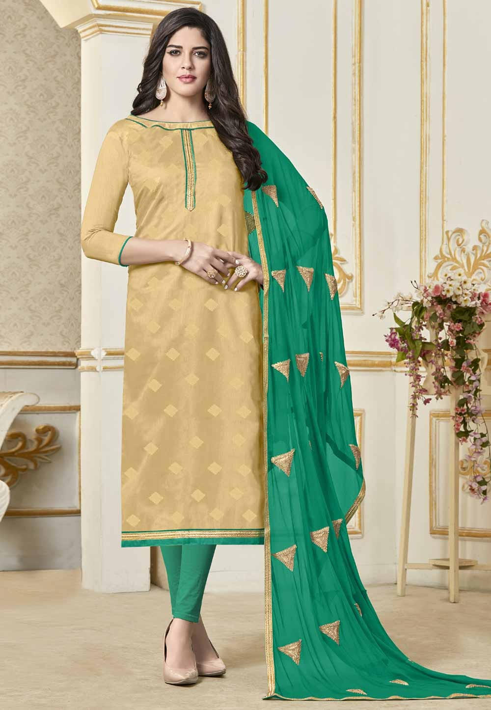 Buy Beige Colour Indian Salwar kameez online India