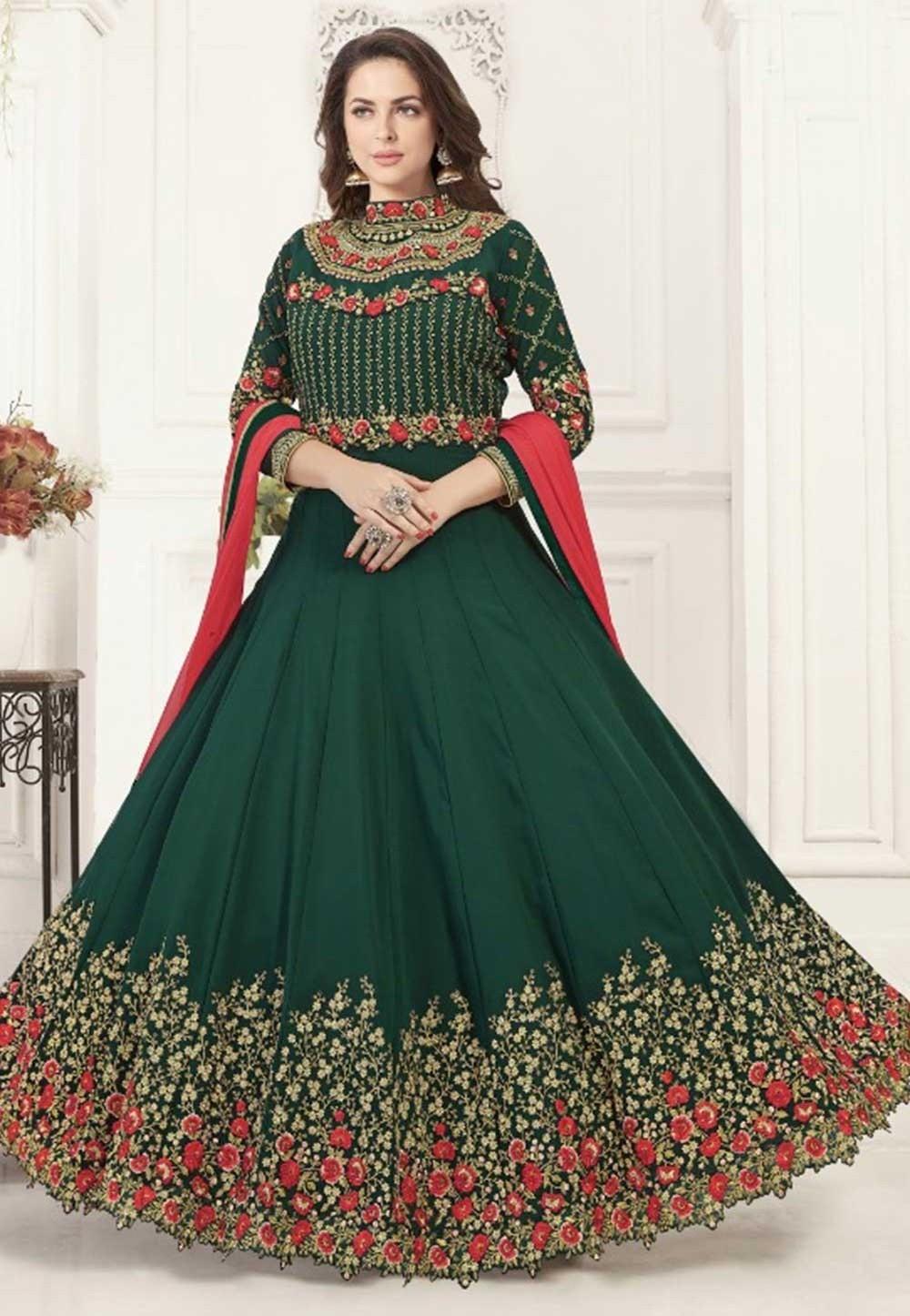 Green Colour Bollywood Salwar Kameez Online