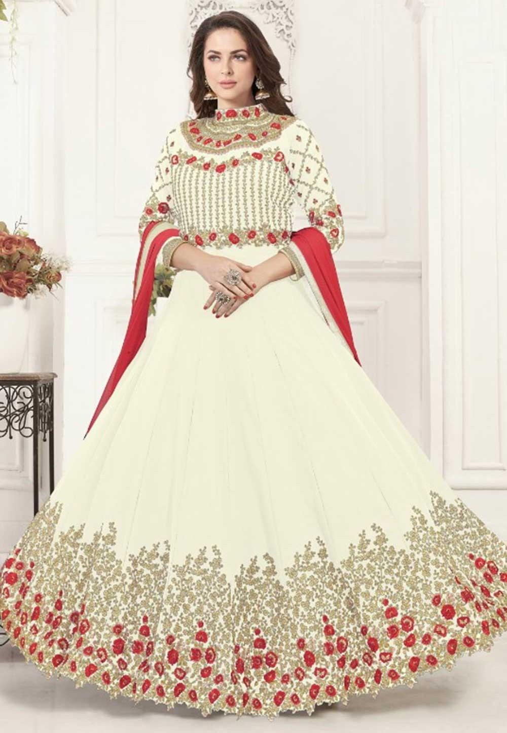 Cream Colour Bollywood Salwar Kameez Online