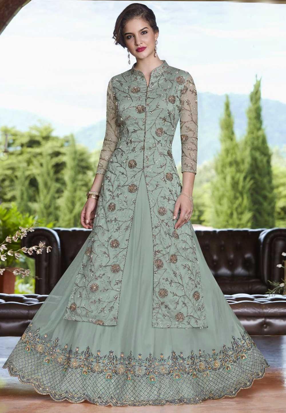 Turquoise Colour Bridesmaid lehenga online