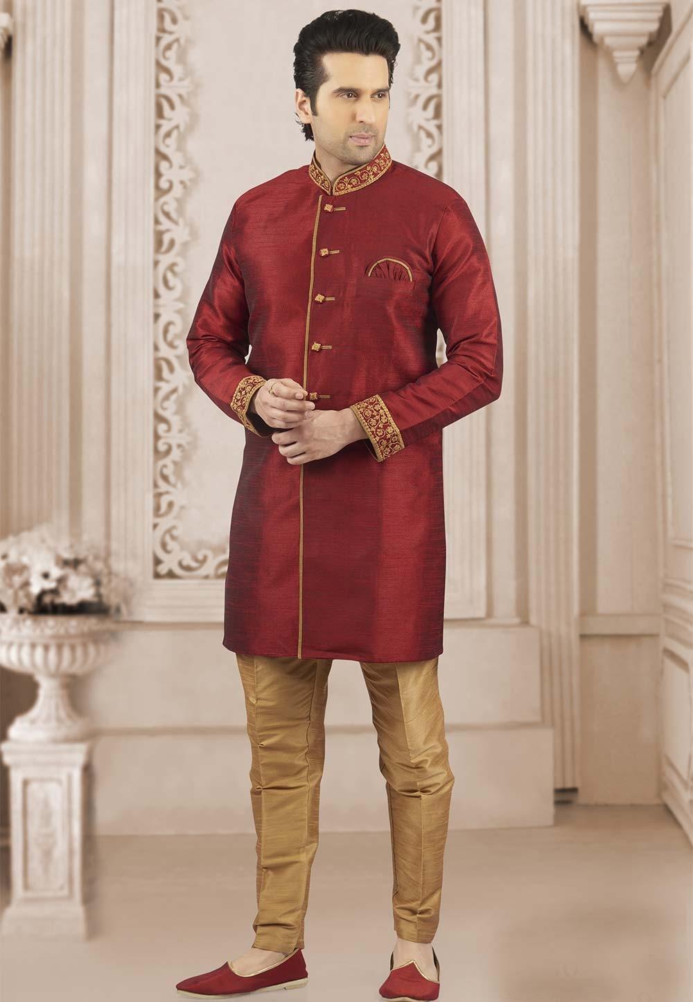Maroon Colour Designer Kurta.