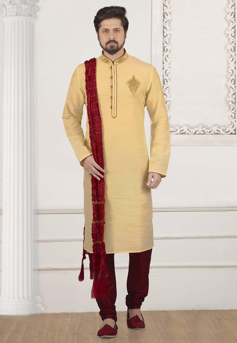 Golden Colour Designer Kurta.