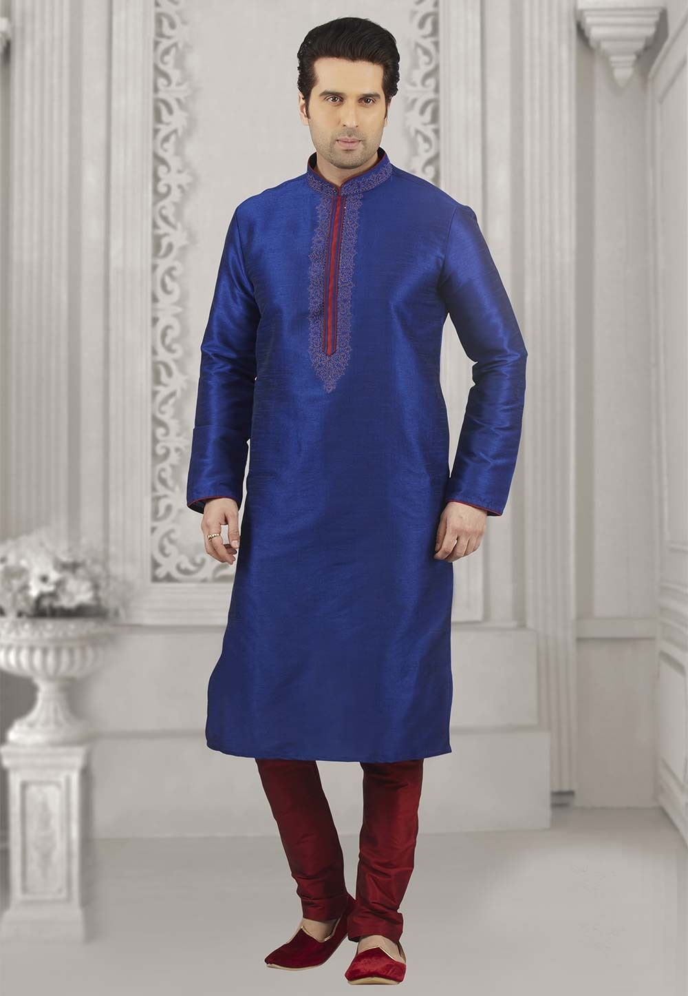Blue Colour Kurta Pajama.