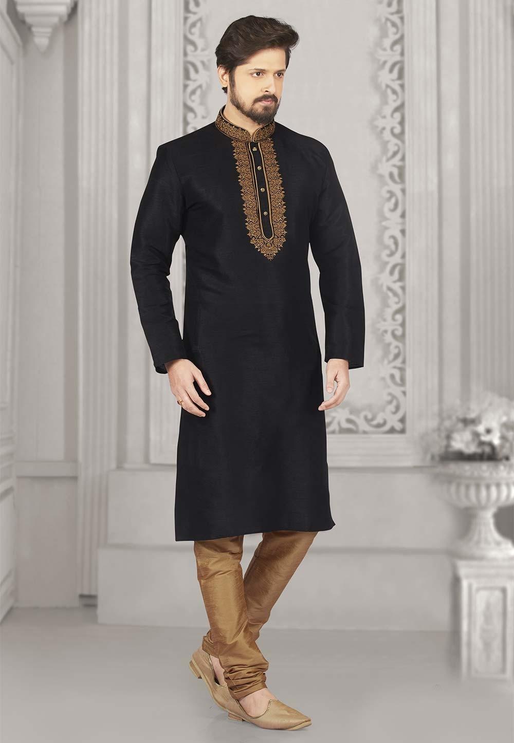 Black Colour Kurta Pajama.