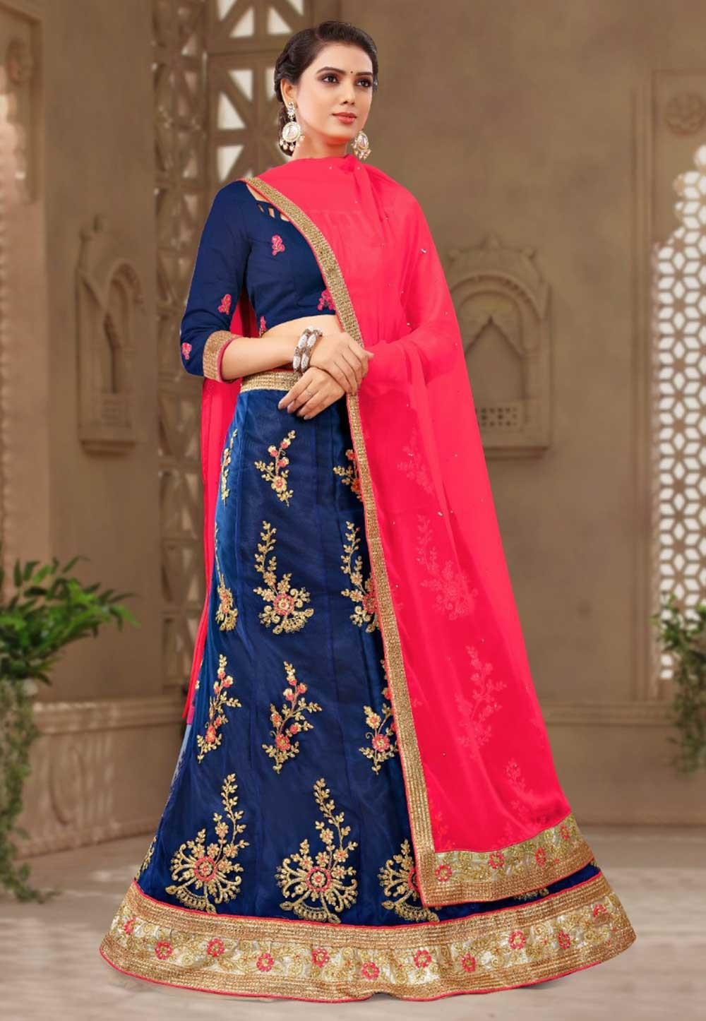 Blue Colour Party Wear Lehenga choli for bridesmaid
