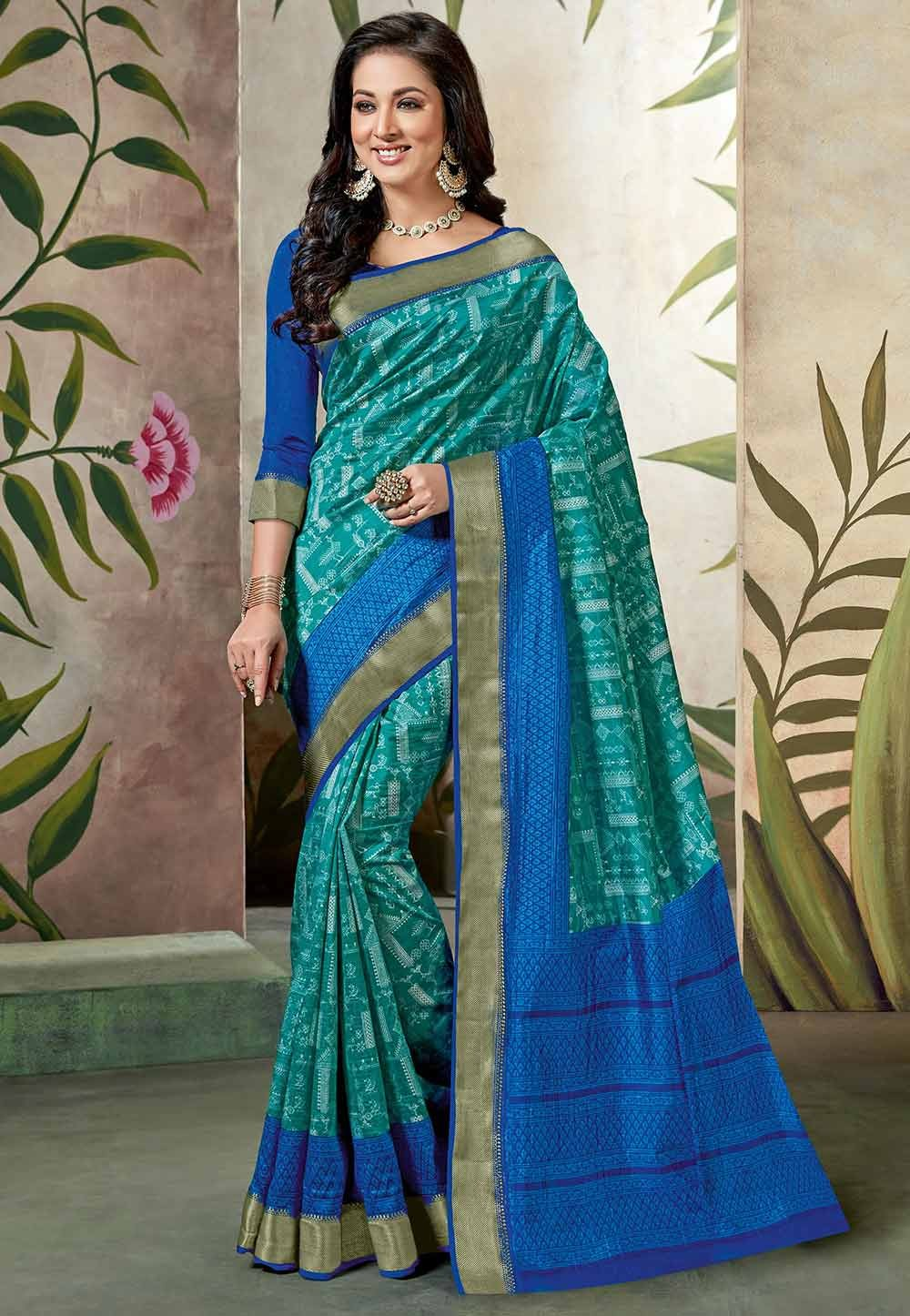Blue Colour Saree.