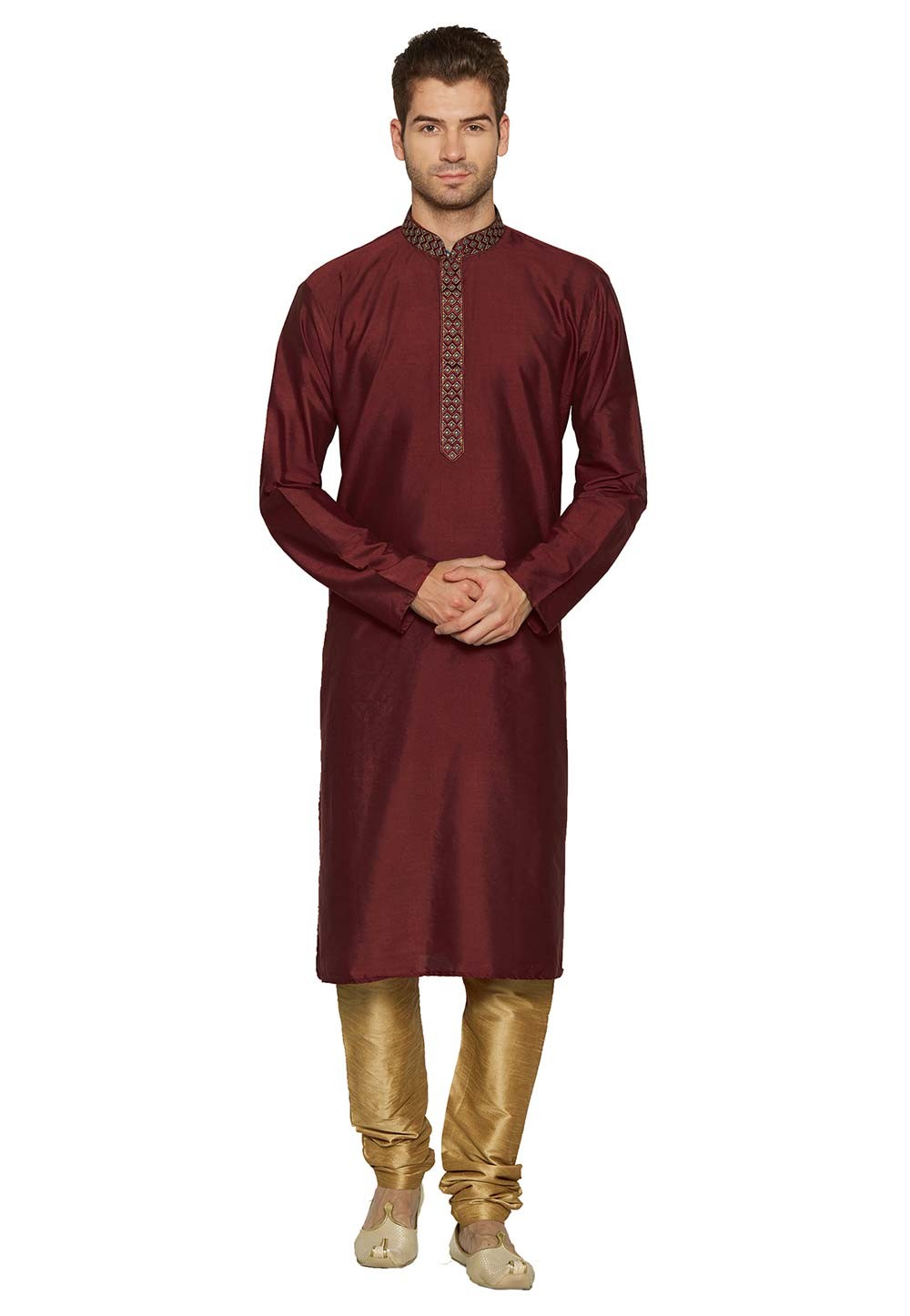 Indian: Buy Kurta Pyjama Online in Maroon Colour