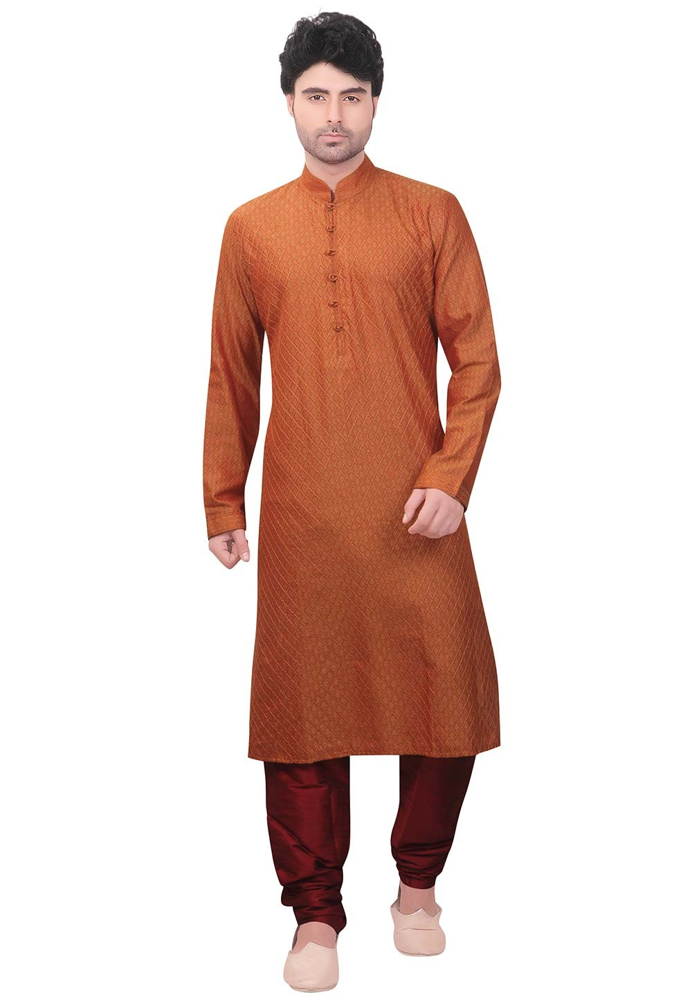 Orange Colour Indian Kurta Pajama for Mens