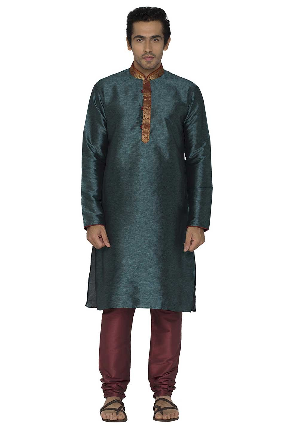 Readymade: Buy Kurta Pajama Online in Blue Colour