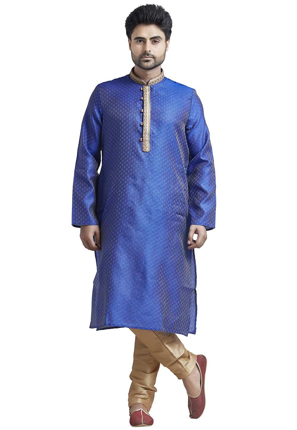 Designer: Buy Kurta Pajama Online in Blue Colour