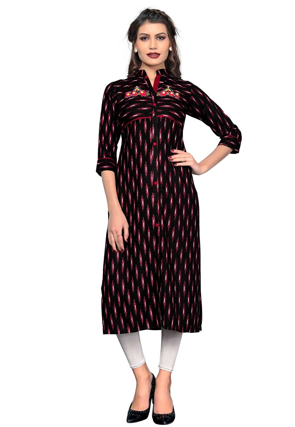 Buy Black,Maroon Colour Indian kurtis