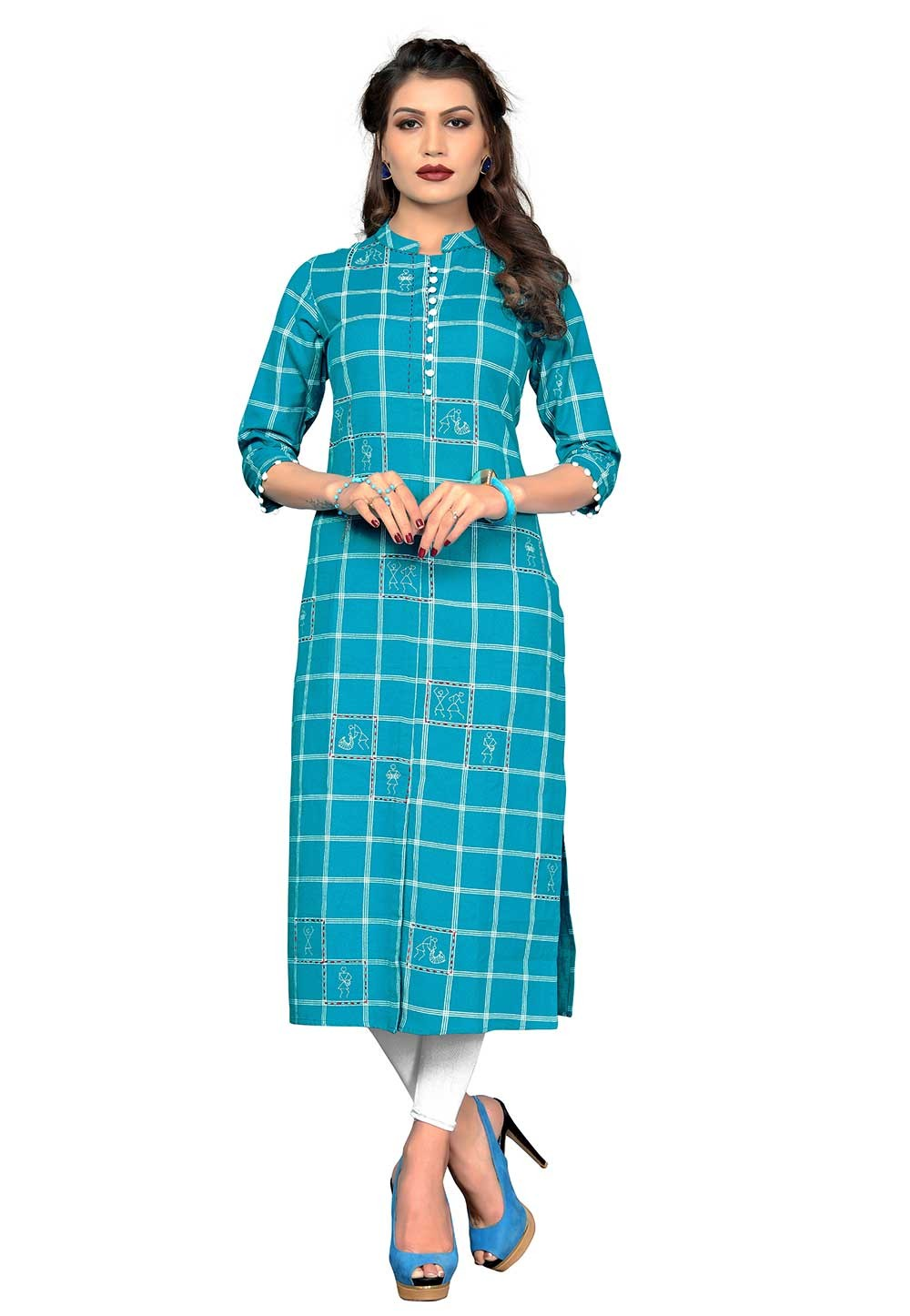 Buy Blue Colour Indian kurtis Online