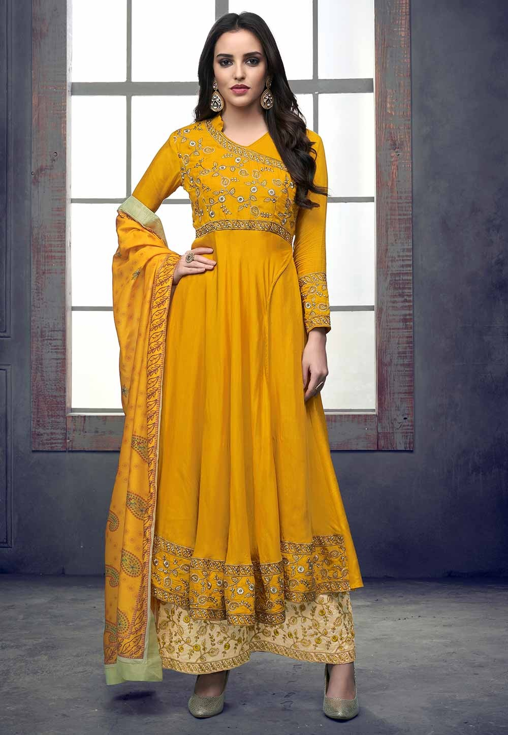 Yellow Colour Party Wear Salwar Kameez