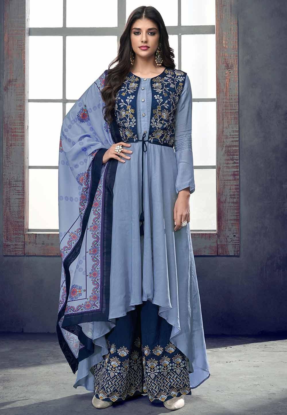 Exclusive Blue Colour Party Wear Salwar Kameez