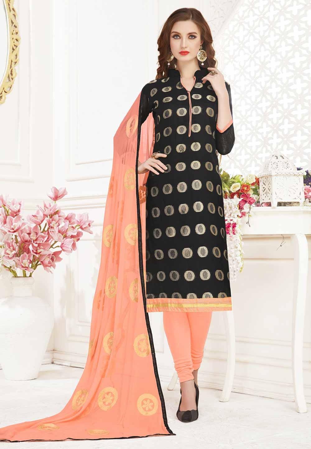 Black Colour Party Wear Designer salwar kameez online