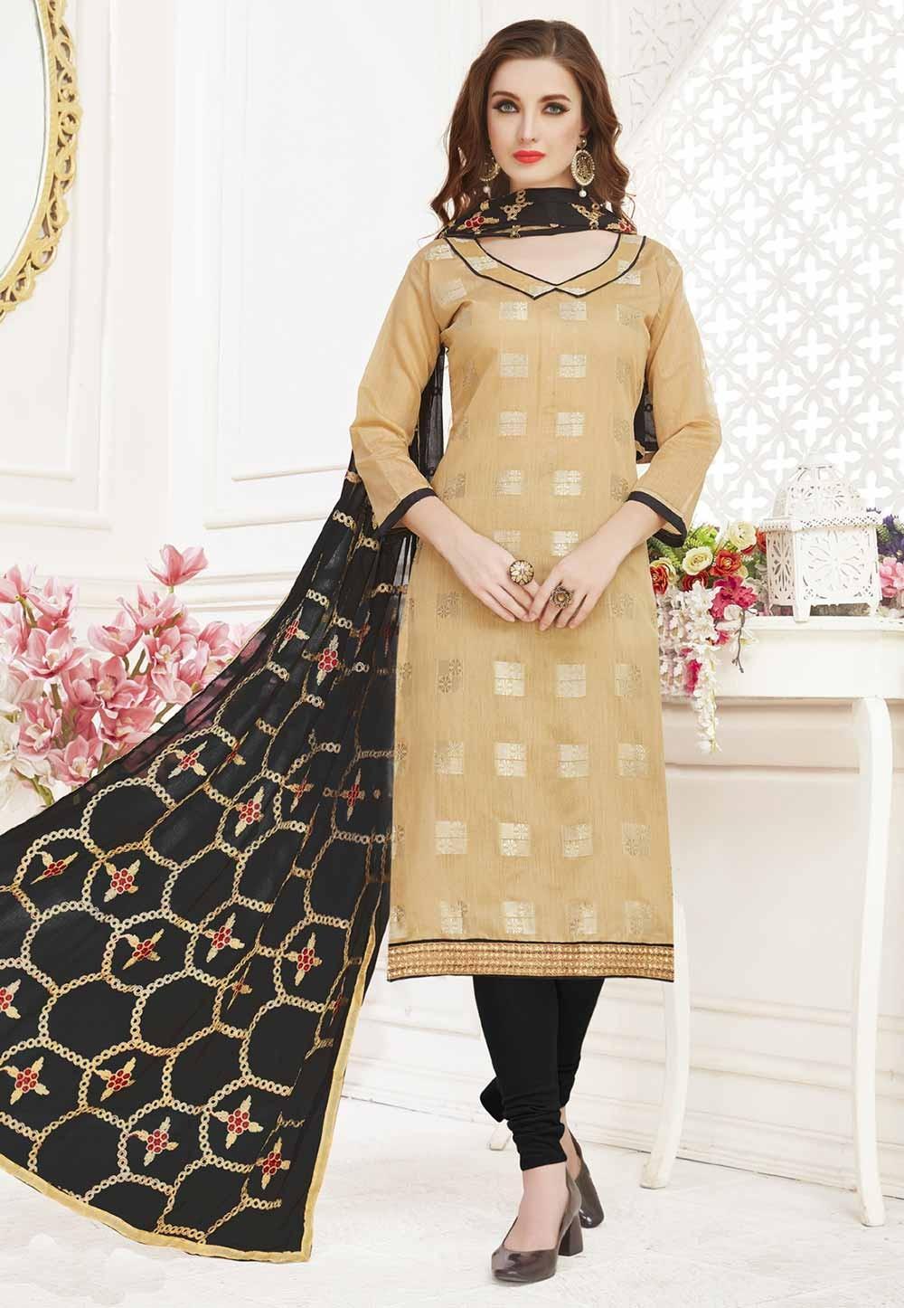 Exlusive Beige Colour Designer salwar kameez online