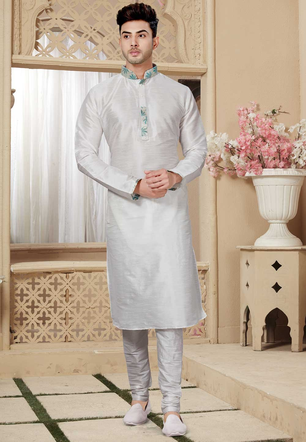 Off White Colour Kurta Pajama.