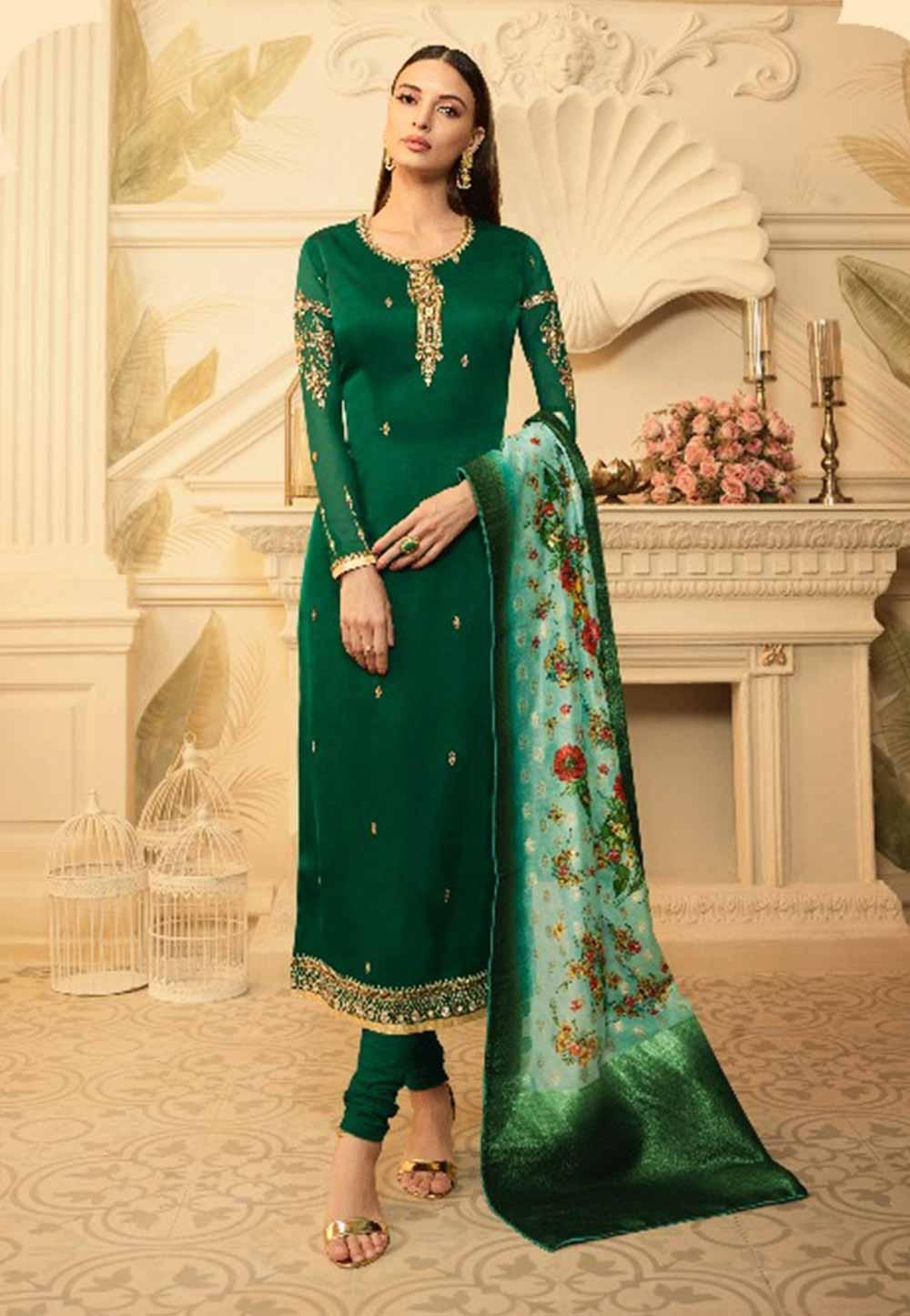 Green Colour Salwar Suit.