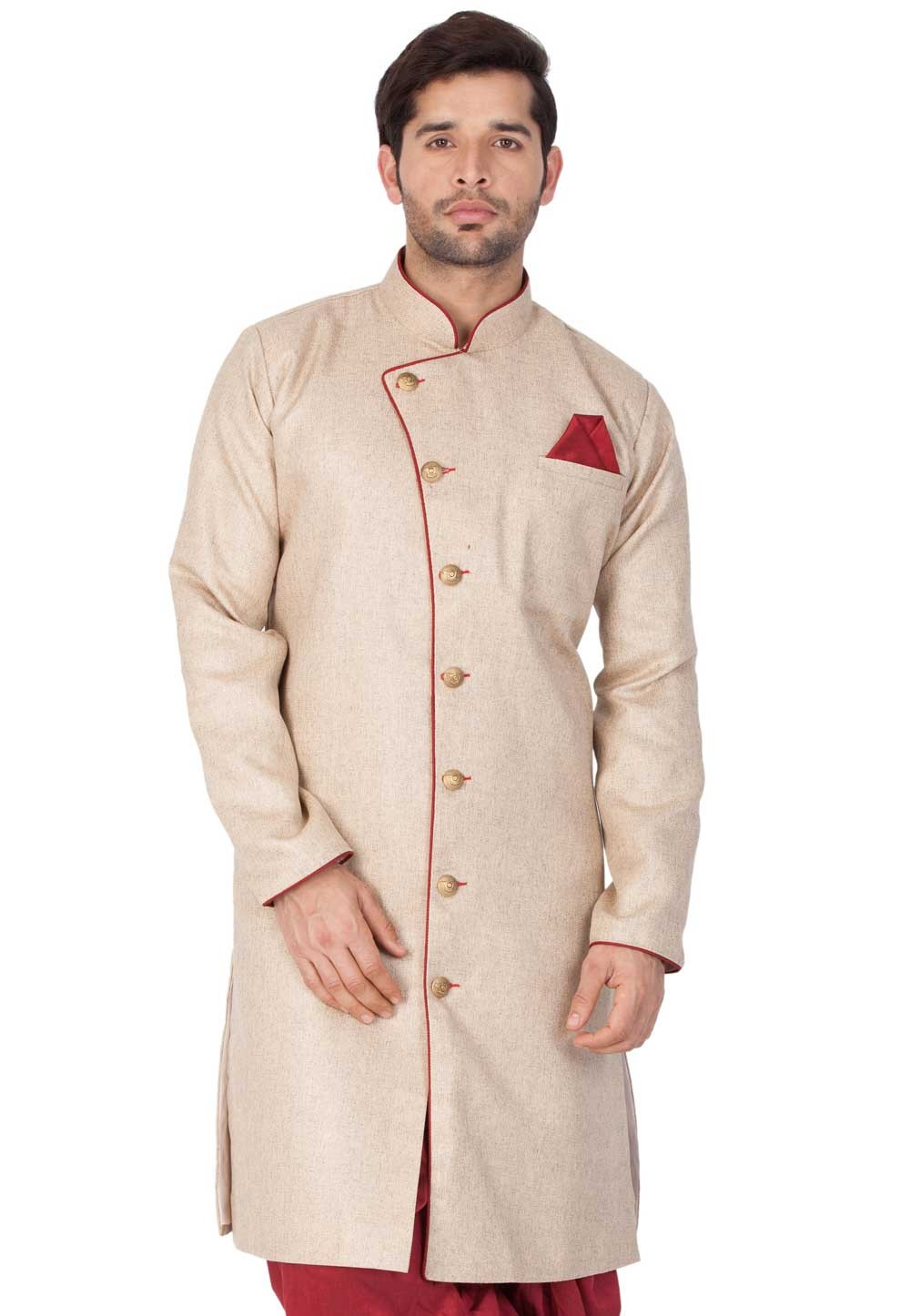 Light Brown Men's Indowestern.