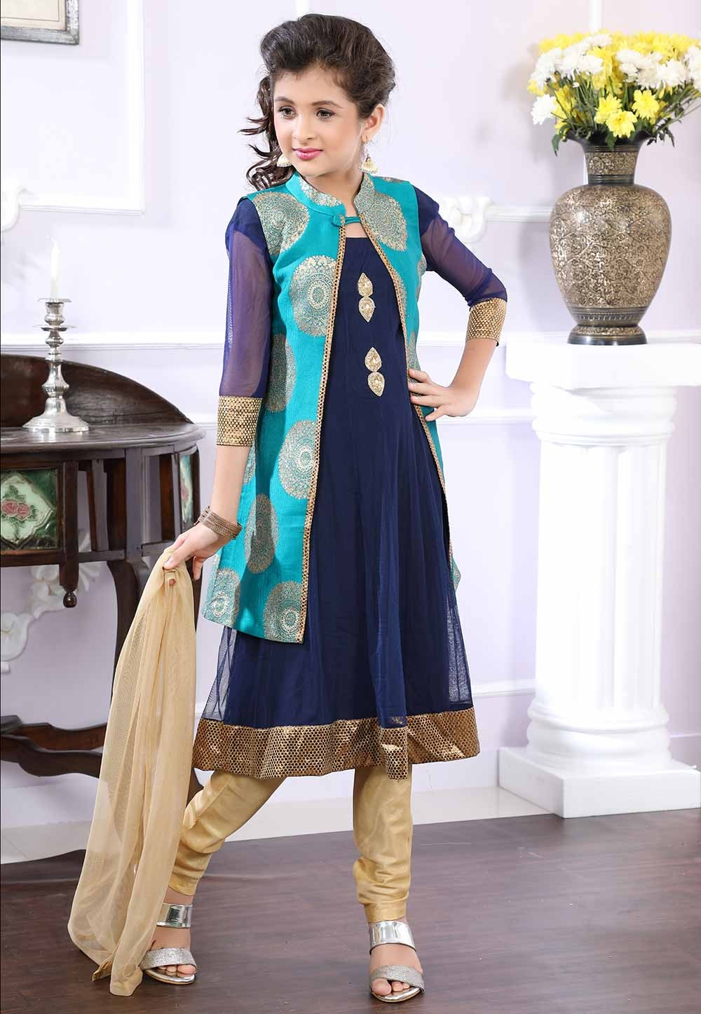 Blue,Greeen Colour Salwar Suit.