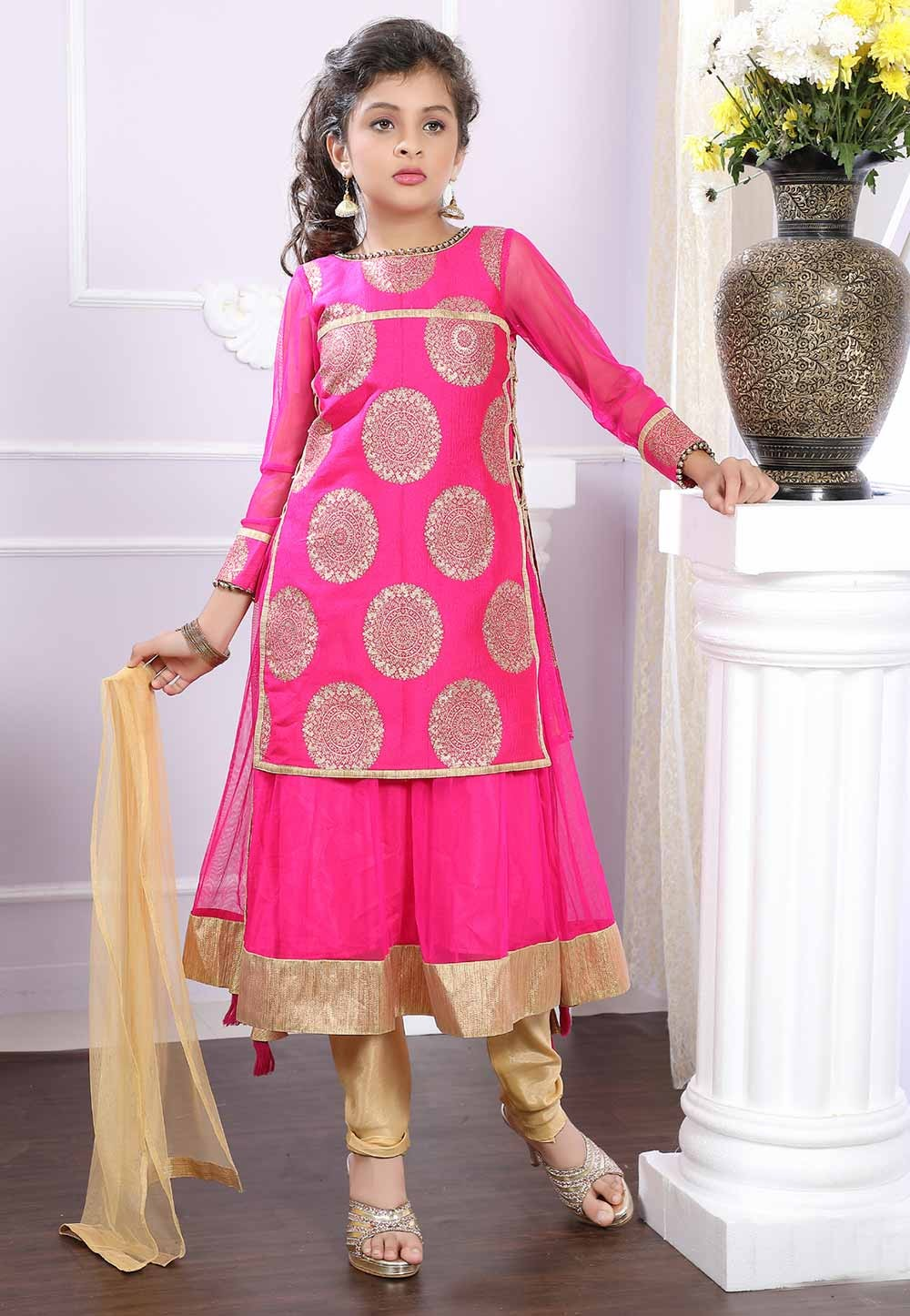 Pink Girl's Salwar Suit.