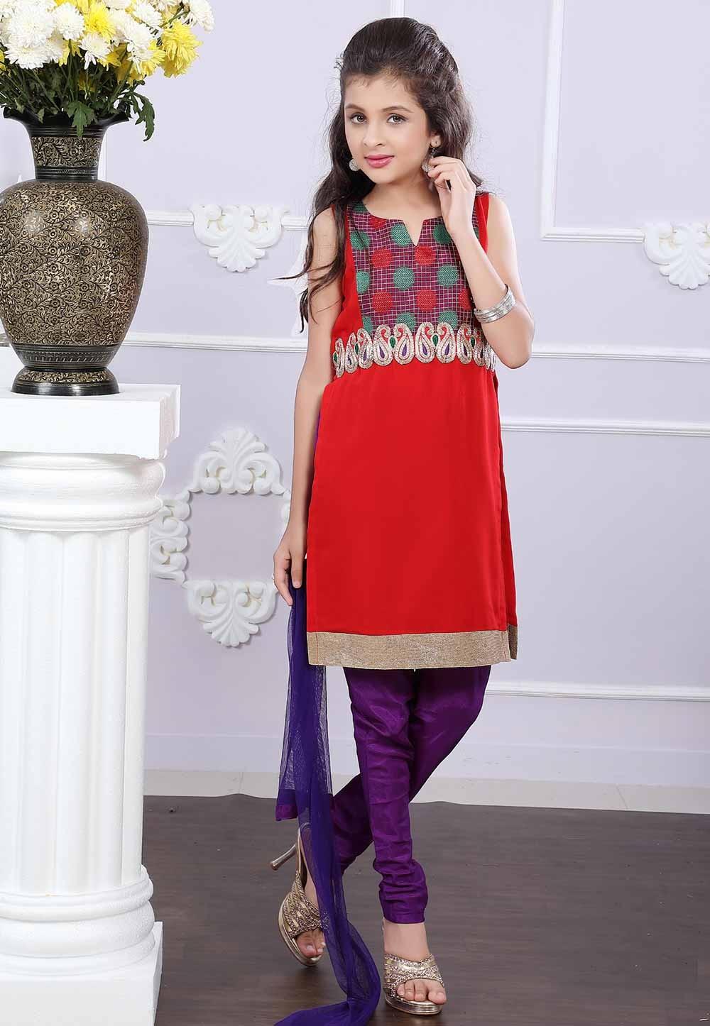 Red Colour Salwar Suit.