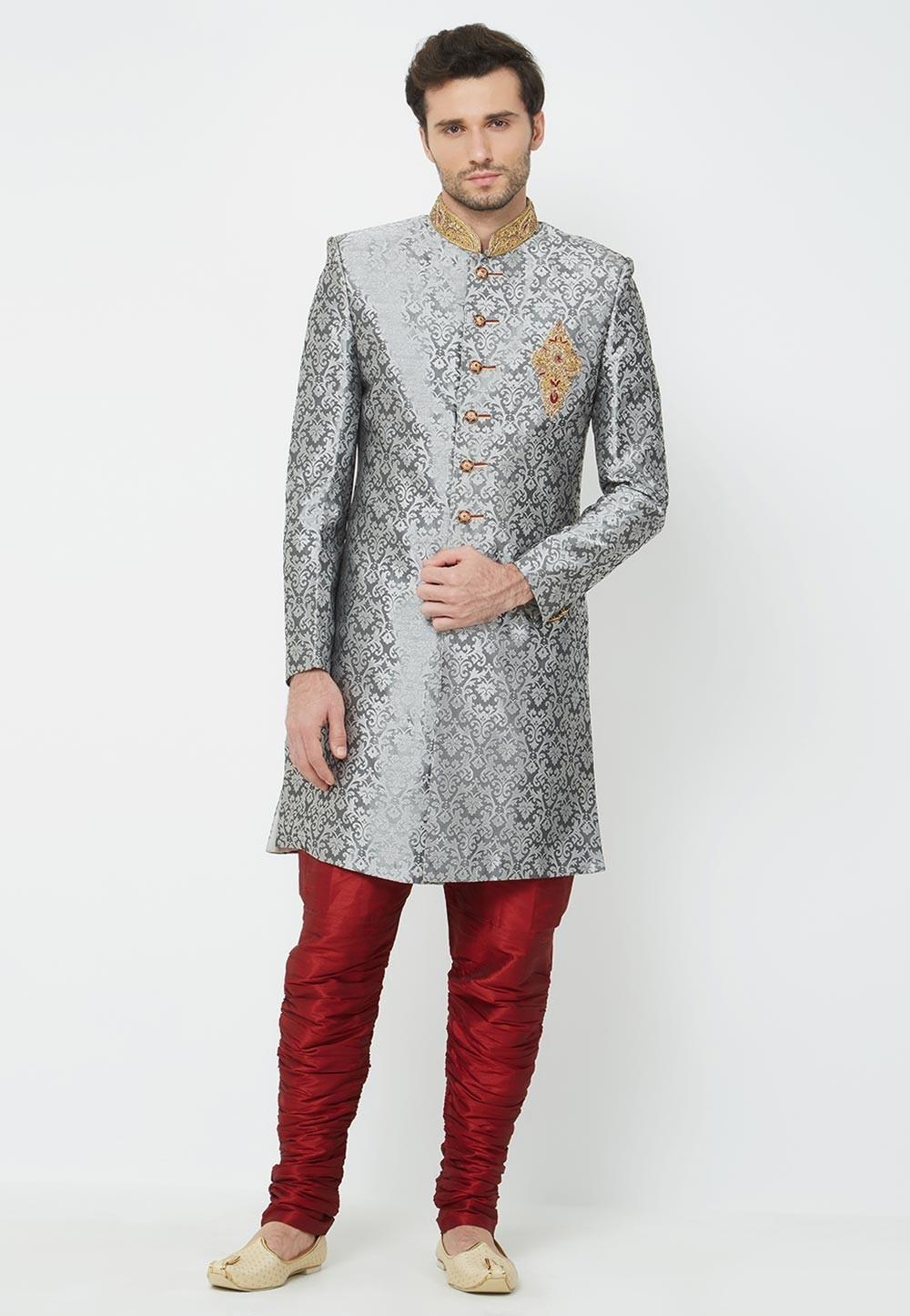 Grey Party Wear Indowestern.